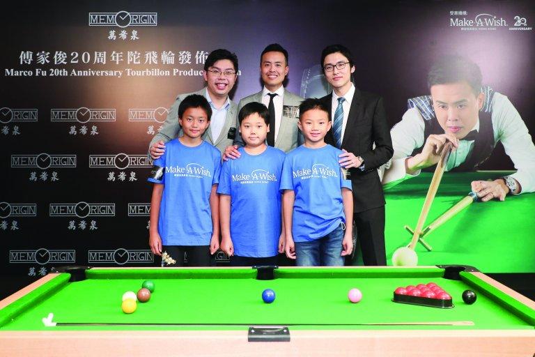 沈慧林與傅家俊先後兩次合作推出以桌球為主題的腕錶,推廣香港運動精神。