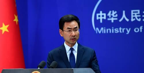 耿爽強調,外交部堅決反對任何外國勢力干涉中國內政。(外交部FB)