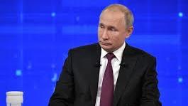 普京說,俄羅斯希望中美兩國能達成貿易協議。(中新社)