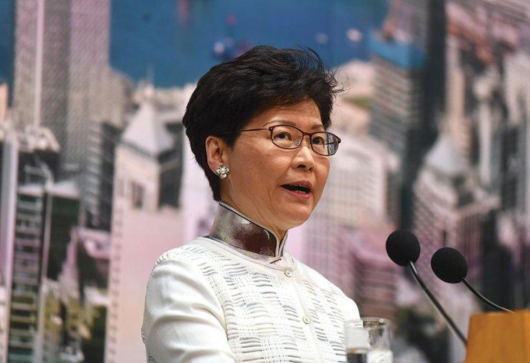 林鄭月娥將不會在港出席升旗活動。