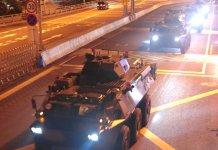 反修例衝突升級 駐軍輪換調動大批戰車來港