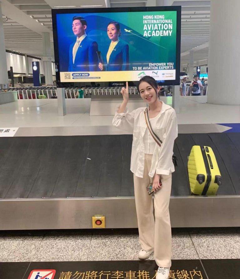 黃嘉雯也為機場拍攝廣告宣傳。(網上圖片)
