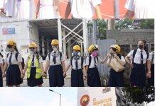 【示威不止】 全港多區再有中學學生及校友發起聯校人鏈活動
