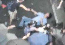 【暴力不止】中年漢高呼「我是中國人」遭圍毆倒地一度危殆