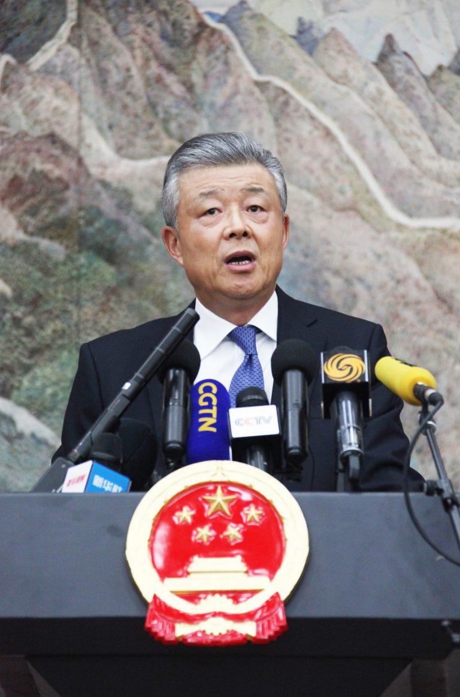 駐英大使劉曉明強烈反對英下議院干預香港食物及中國內政。(中新社)