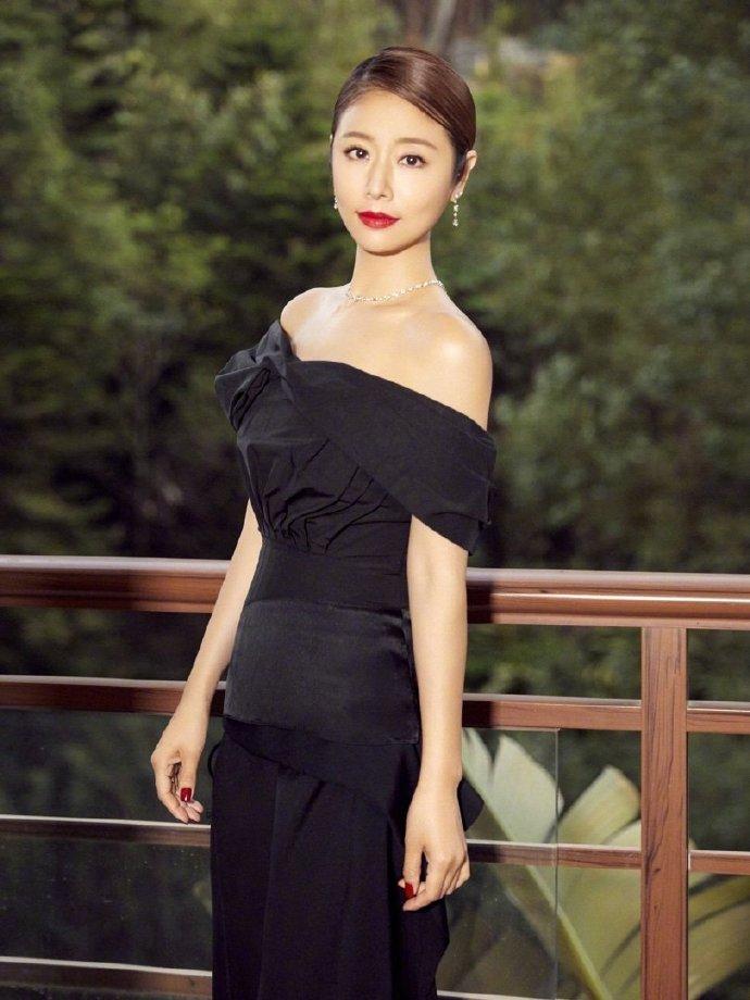 同一套黑色晚裝,拍攝出來效果大不同,力証林心如美麗如惜。