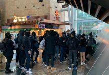 【示威不止】蒙面人聖誕假連續二日商場遊走搞破壞