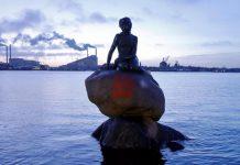 丹麥美人魚像遭噴FREE HONG KONG  網民批:「香港那些人為所欲為」