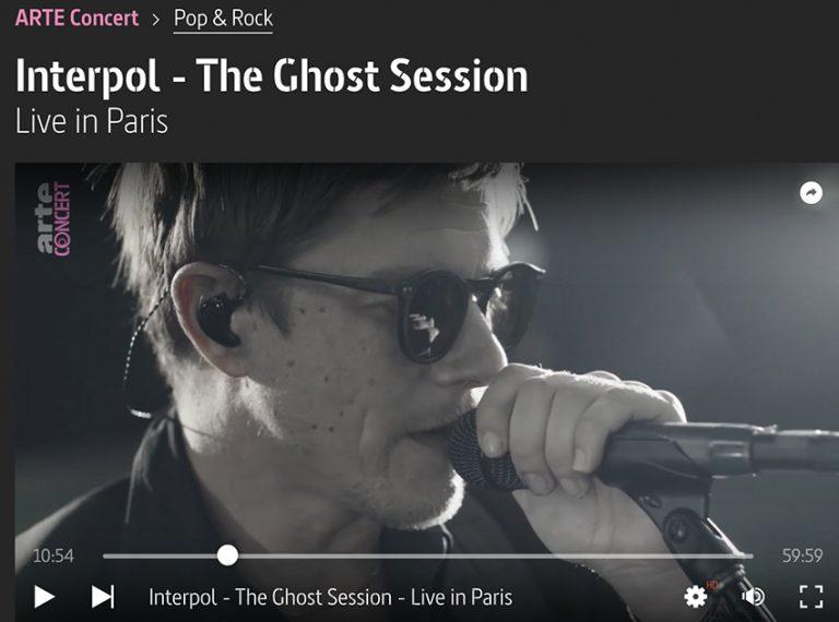 紐約的post punk 樂隊Interpol 的Live in Paris ,5月13日前也可免費收看。