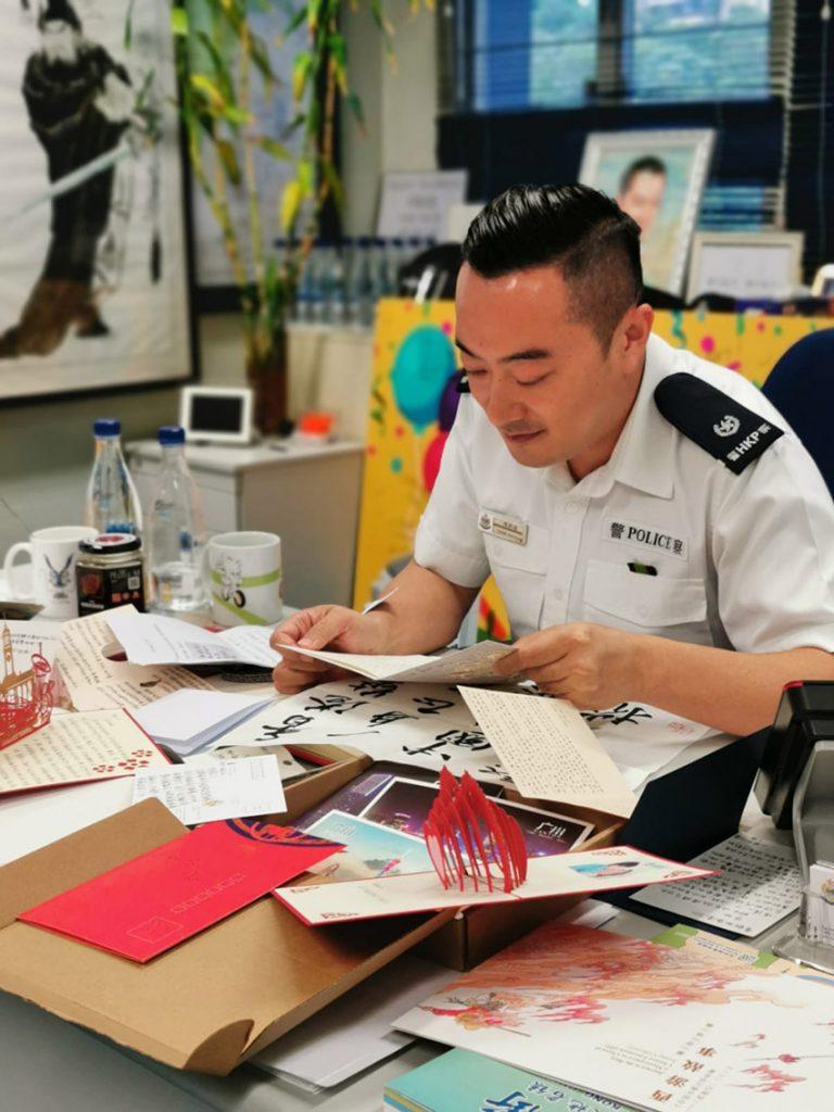 Haba Sir從警25年,從無知少年成長為警司。