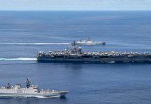 【中美角力】美尼米茲號航母與印度聯合軍演