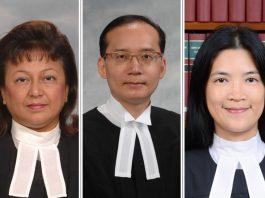 主任裁判官錢禮、羅德泉及徐綺薇 下月起對調崗位