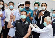 【新型肺炎】泰國獲首批20萬劑科興疫苗展開接種 官員感謝中方支持