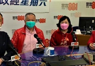 張宇人(左)和麥美娟(右)都認為,政府應提供誘因,鼓勵處所從業員接種疫苗。