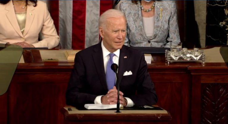 拜登在國會發表演說。﹙互聯網﹚