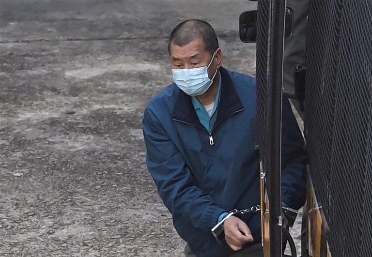 黎智英因非法組織及參與集結,被法庭判處入獄合共14個月。