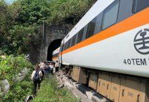 【人為災難】台列車疑遭工程車撞至出軌增至54死逾百人傷 國台辦表關注