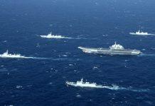 【中美角力】遼寧艦演練 美陸台軍機同在台西南空域徘徊