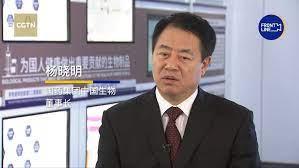國藥董事長楊曉明接受CGTN訪問時表示,今年中國能夠建立10億人的免疫屏障。(CGTN截圖)