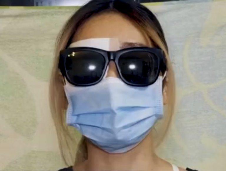 醫管局被指協助爆眼少女隱瞞傷勢。
